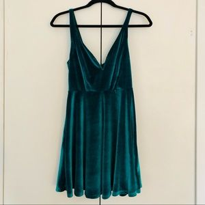 Urban Outfitters Green Sweetheart Dress